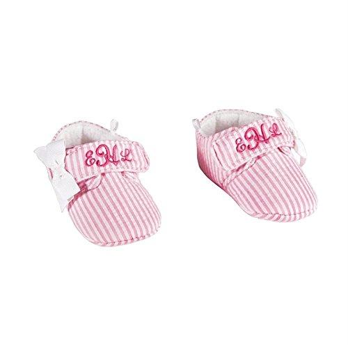 MUD PIE BABY GIRL PINK SEERSUCKER Monogram Me - Mud Pie Shoes