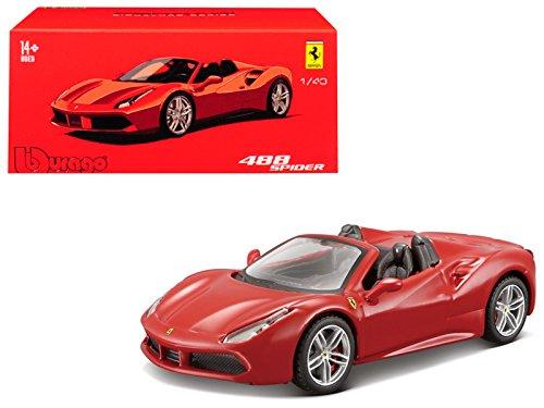 Bburago Ferrari 488 Spider Red Signature Series 1/43 Diecast Model Car by 36905R