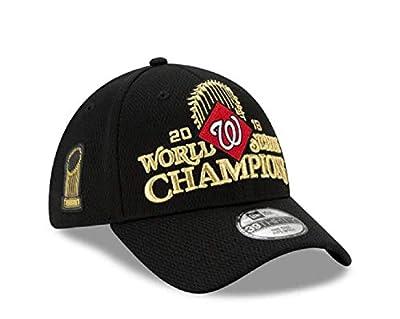 New Era Men's 2019 World Series Champions Locker Room 39Thirty Washington Nationals Stretch Fit Hat Black