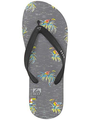 Reef Switchfoot Prints, Sandalias Flip-Flop para Hombre Varios colores (Washed Tucan)