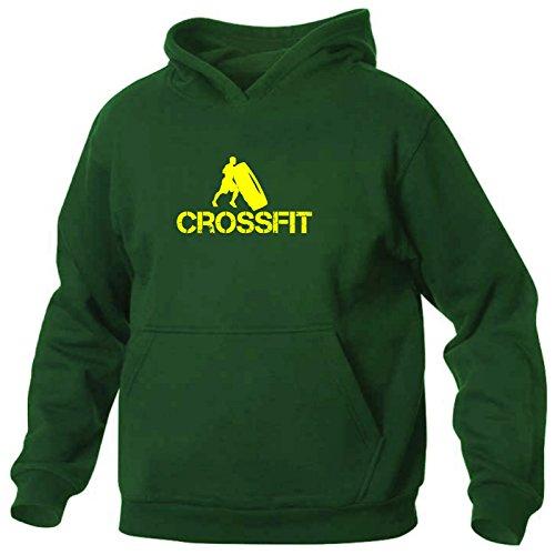 Uomo Art Felpa shirt Verde T Con Cappuccio 2 Crossfit Eq0qrx