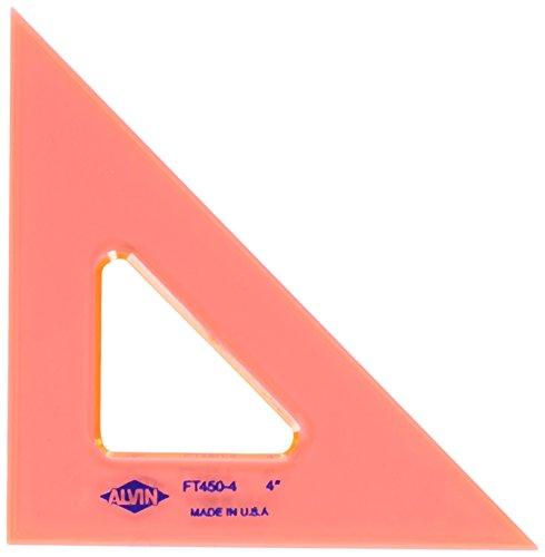 Alvin 4 inches Fluorescent Triangle 45/90 FT450-4