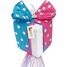 APINATA4U Gender Reveal Gift Box Pinata Traditional Whack & Pull Strings Style