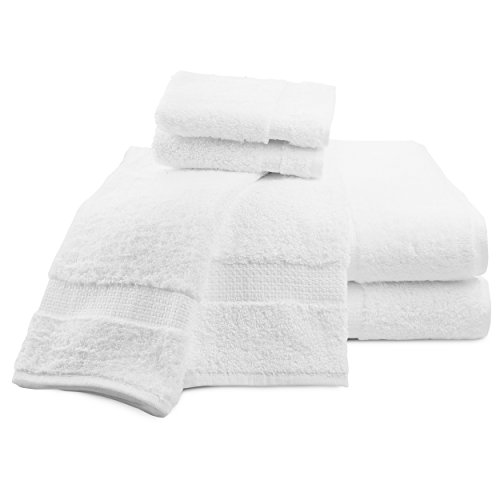 Luxor Linens Luxury 100% Cotton Giovanni Spa Set - Robe, Slippers & 3-Piece Towel Set - 2 Sets - Perfect for a Relaxing Spa Day at Home! by Luxor Linens (Image #4)