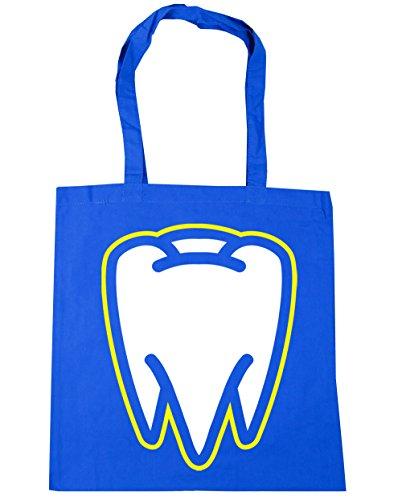HippoWarehouse Tooth Tote Shopping Gym Beach Bag 42cm x38cm, 10 litres Cornflower Blue