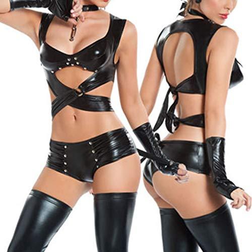 Traje Disfraces Noche Clubwear D de Bachelorette Juego Mujeres negro Fiestas Bodycon de Lencería de DOLITY pxSfAx4