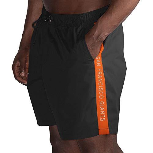 League Trunks San Francisco G-III Sports by Carl Banks Volley Swim Short – Black (X-Large) - Mens San Shorts Francisco Giants