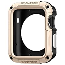 Spigen Tough Armor Apple Watch Case with Extreme Heavy Duty Protection and Built In Screen Protector for Apple Watch Series 2 42mm (2016) - Champagne Gold
