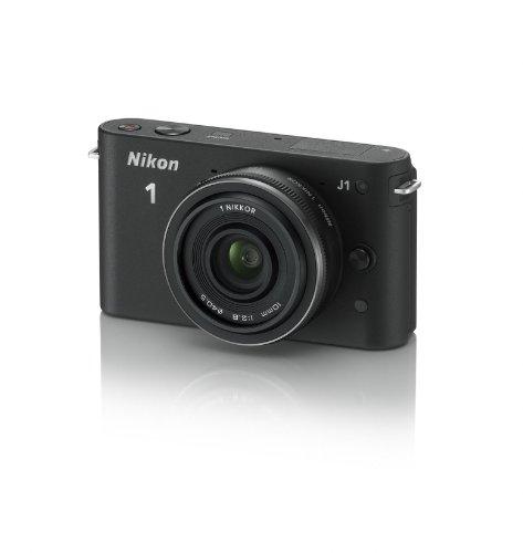 Nikon 1 J1 Systemkamera (10 Megapixel, 7,5 cm (3 Zoll) Display) schwarz inkl. 1 NIKKOR 10 mm Pancake Objektiv