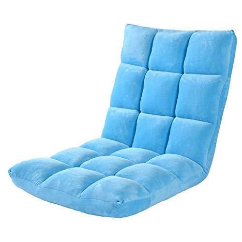 怠惰なソファ畳折り畳み式シングル小型ソファベッドコンピュータバックチェアフロアソファ B07SYNM29S Blue