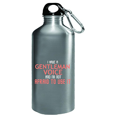 Gentleman Voice Cool Typography Job Design - Water Bottle