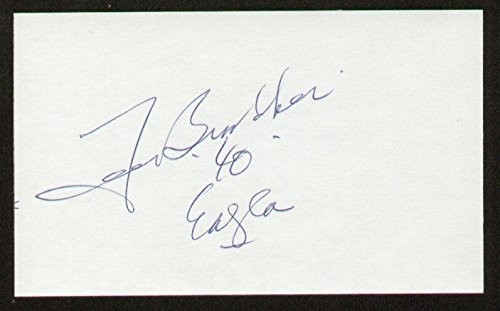 Tom Brookshier signed autograph auto 3x5 be unsecretive Football Player Eagles d. 2010