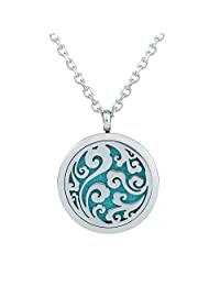 Aromatherapy Ocean Waves Locket Necklace