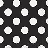 Black Polka Dot Beverage Napkins, 16ct