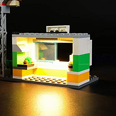 LIGHTAILING Light Set for (City Burger Bar Fire Rescue) Building Blocks Model - Led Light kit Compatible with Lego 60214(NOT Included The Model): Toys & Games