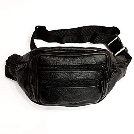eebf4beb48ffb Amazon.com | Le Sac High-Grade Leather Fanny Pack | 7 pockets | Waist Packs