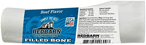 Redbarn Filled Bone Beefy, Large 6-Inch