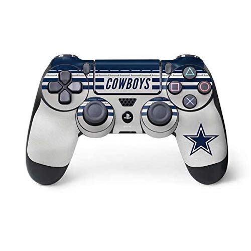 - Skinit Dallas Cowboys White Striped PS4 Controller Skin - Officially Licensed NFL PS4 Decal - Ultra Thin, Lightweight Vinyl Decal Protective Wrap