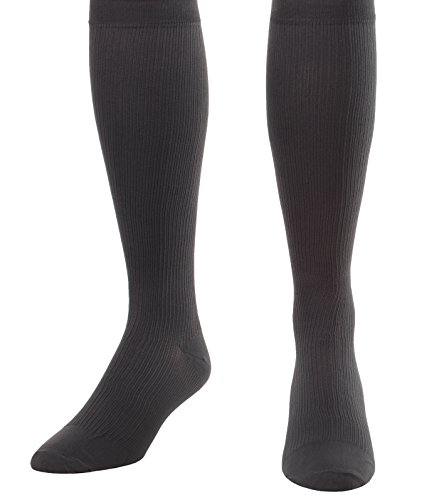 Made in The USA - Medical Compression Socks for Men, Firm Graduated Support Socks 20-30mmHg - Closed Toe - 1 Pair - Absolute Support, SKU: A104GR2 (Grey, Medium) - Helps with Poor Circulation, Edema