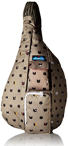 KAVU Rope Sling Backpack, Cattitude, One Size (Kavu Rope Bag Brown)