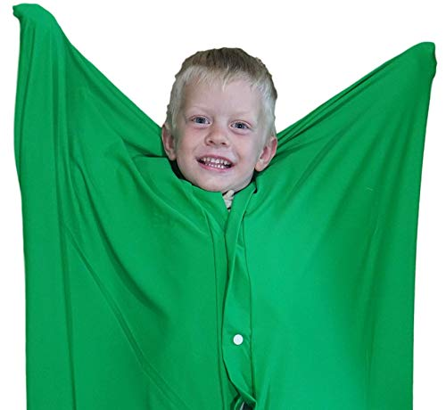 Body Pod - Sensory Sack (Medium), Body Sock, Calming Therapy Blanket, Sensory for Stress Relief, Anxiety, Autism, ADHD, ADD, Tactile Items for Therapeutic Play, Kids Fidget Toy, Body Pod in Green - Sensory4U