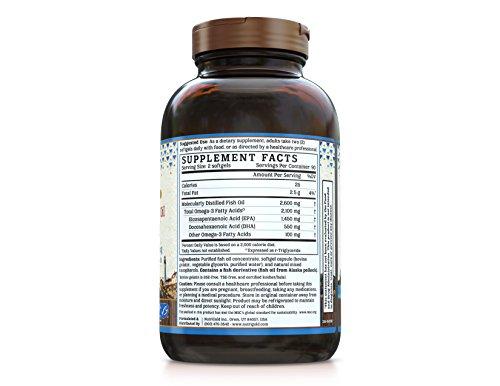 Nutrigold Triple Strength Omega-3 Gold Fish Oil Supplement, 2100 mg, 180 Softgels