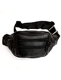 Le Sac Soft High-Grade Leather Fanny Pack / Waist Pack / Money Belt for Active People (7 pockets)