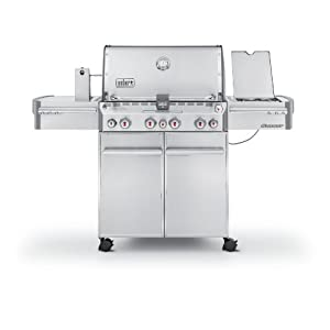 Weber Summit 7170001 S-470 Stainless-Steel 580-Square-Inch 48,800-BTU Liquid-Propane Gas Grill