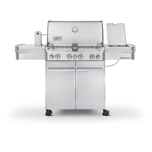 Weber Summit 7170001 S-470 Stainless-Steel 580-Square-Inch 48,800-BTU Liquid-Propane Gas ()