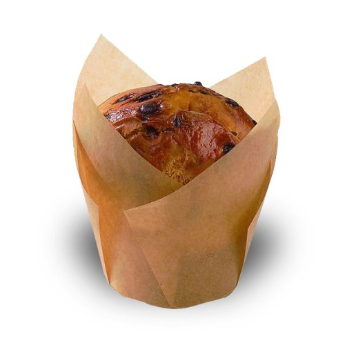 PackNWood 209CPST5M Tulips Golden Brown Silicone Baking Cup - 4 oz - : 2.1'' - 1000 per case