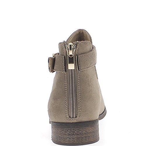 Botas de gamuza de tacón 2,5 cm aspecto abrir tallo Mole