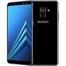 "Samsung Galaxy A8+ (2018) Factory Unlocked SM-A730F SINGLE SIM 32GB 4GB Ram, 6"" Screen, 16MP Rear Camera + Dual Frontal Camera 16MP+8MP, IP68, 4G LTE International Version No Warranty (Black)"