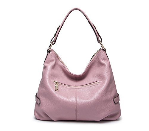 Purses Genuine Style Womens Casual Pink and Leather Satchel Handbag Hobo Crossbody Bags Mayshe Shoulder Tote Rtqvnxvd