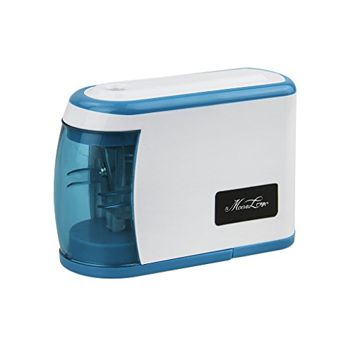 Portable Battery Operating Electric Pencil Sharpener Automatic Electric Sharpener for Home School Office Kids Classroom Desktop Stationery, Blue