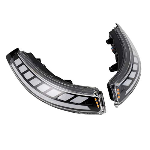 LED-Mirror-Sequential-Turn-Signal-Light-Parking-Puddle-BLACK-Verion for Cadillac ATS ATSL