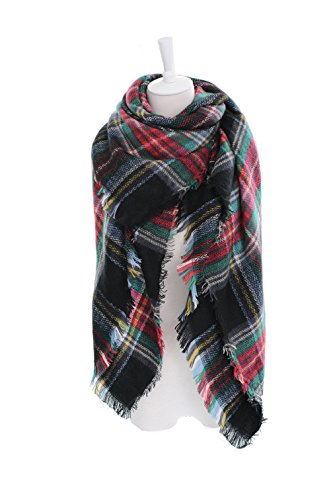 Fall Tartan - POSESHE Large Tartan Fashion Women Scarf Lovely Best Gift Scarf Wrap Shawl