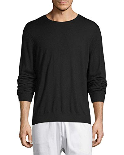 Vince Mens Solid Crewneck Wool Sweater, ()