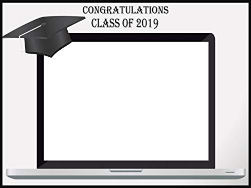 Custom Graduation Photo Booth prop frame - Size 36x24, 48x36; Personalized Class of 2019, graduation party, Graduation Hat PC Laptop Photo booth frame - Handmade DIY Party Supply Photo Booth Props