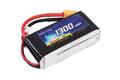 FERCAKE 1300mAH 3S 11.1V 50C Lipo Battery RC for Airplane Helicopter Boat Car Truck with XT60 Plug