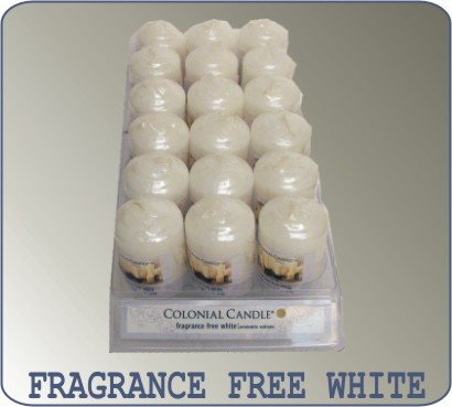 Votives Colonial Candle, Unscented White - Votives Candle Colonial