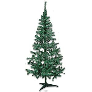 Okk Toys 6 Feet Christmas Tree Best Choice Artificial Xmas Season Green 360  Tips With Plastic Feet Stand Product Party Home Garden