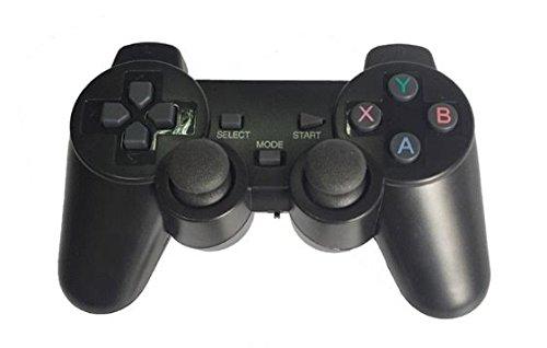 SHAPPYNES(シャピネス) ワイヤレスコントローラー PS3 スマホ スマートフォン android 対応 2.4ghz 無線 コントローラー 黒 SHP-004