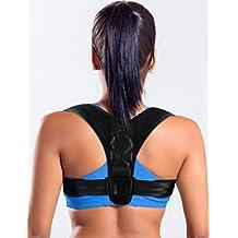 Figure 8 Posture Corrector Clavicle Support Brace for Upper Back & Shoulder, Best Brace Help to Inprove Posture for Men & Women(Black, Small)