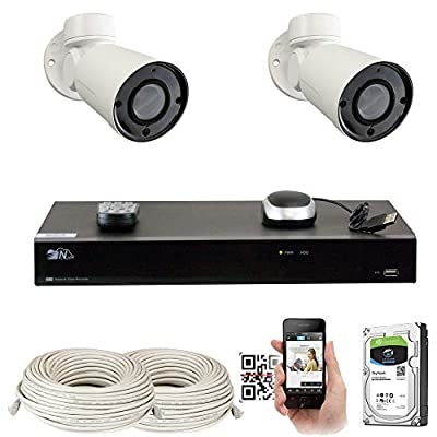 GW H.265 NVR HD Megapixel Security Camera System 5MP 1920p Network Poe Weatherproof IR Led IP Cameras Night Vision by GW Security Inc