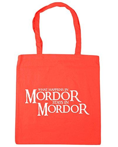 HippoWarehouse lo que sucede en Mordor stays en Mordor Tote Compras Bolsa de playa 42cm x38cm, 10litros Coral