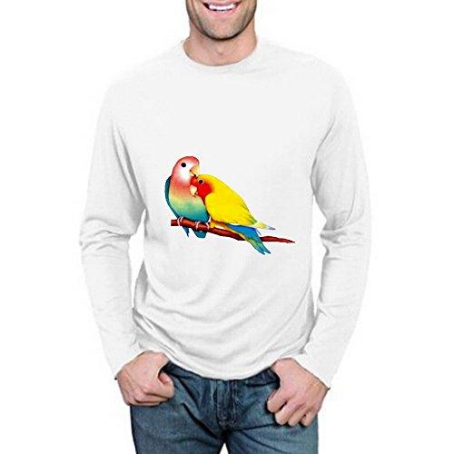 VIPxmax Art Birds Retro Heavyweight Casual Costum Hard Rock Long Sleeve Mens T-shirt Size S -