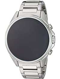 Armani Exchange Men's Stainless Steel Touchscreen Smartwatch, Color:Silver-Toned (Model: AXT2000)