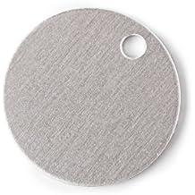 "RMP Stamping Blanks, 1"" Round w /hole, Aluminum .063"" (14 Ga.) (50 pack)"