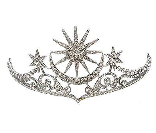 - Wiipu Rhinestone Star Tiara Bridal Wedding Crown Baroque Tiaras Crowns(A1212)