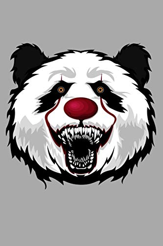 Journal: Panda Bear Clown Scary Halloween Animal Black Lined Notebook Writing Diary - 120 Pages 6 x 9 por InGENIUS Publications